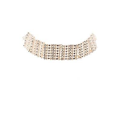 Plus Size Embellished Choker Necklace