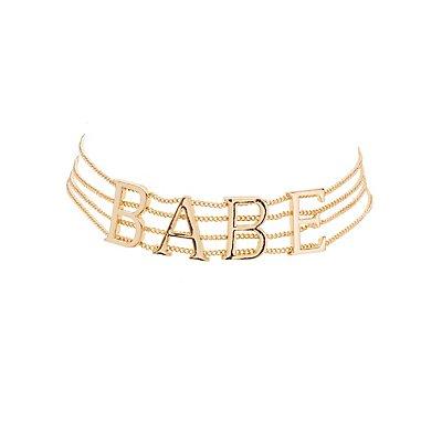 Plus Size Babe Multistrand Choker Necklace