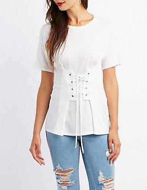 Corset-Detail T-Shirt