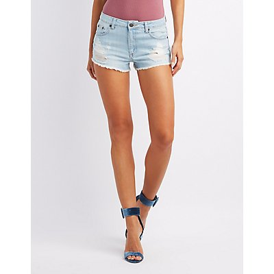 High-Rise Denim Cut-Off Shorts