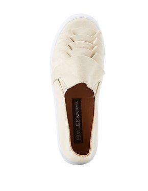 Ruffle-Trim Slip-On Sneakers