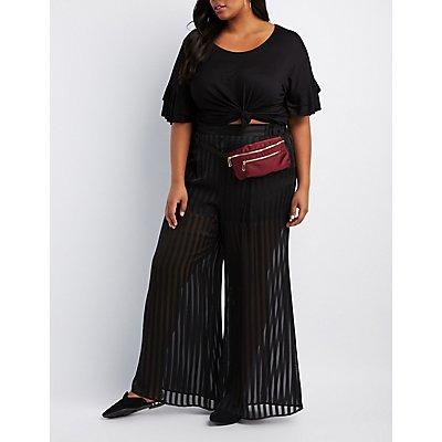 Plus Size Zip-Pocket Belt Bag