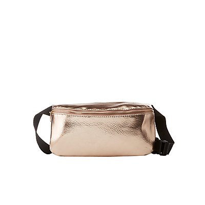 Plus Size Metallic Belt Bag