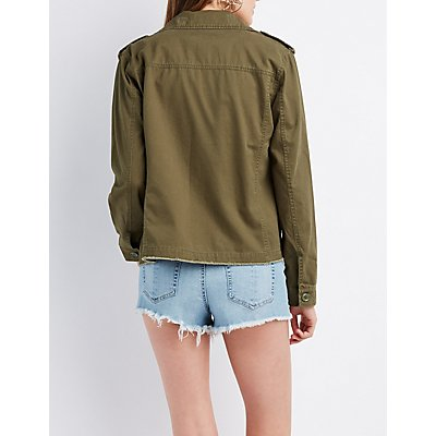 Embroidered Twill Utility Jacket