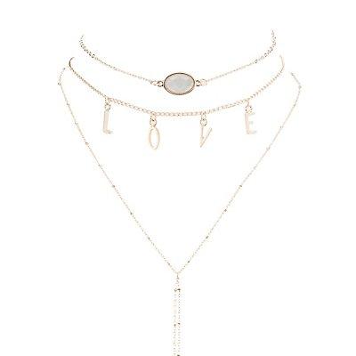 Love Choker Necklaces & Earrings Set