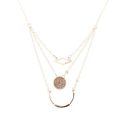 Embellished Choker & Layered Necklace - 2 Pack