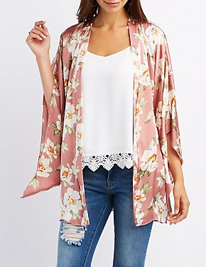 Floral Belted Kimono
