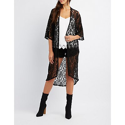 Lace Open-Front Kimono