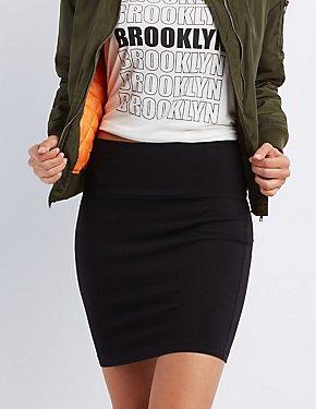 Bodycon High-Waisted Mini Skirt
