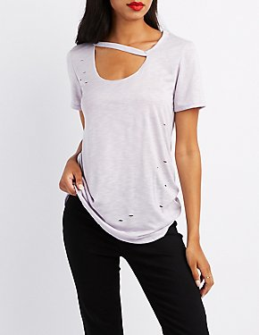 Destroyed Cut-Out Tee