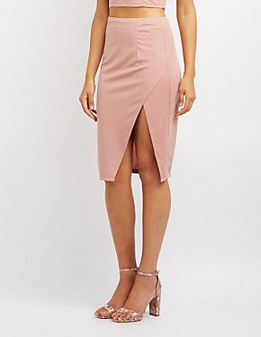 Side Slit Bodycon Skirt