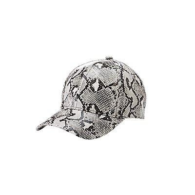 Faux Snakeskin Baseball Hat