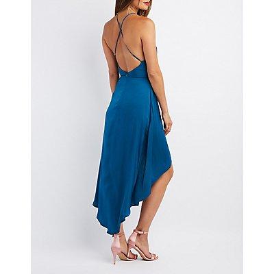 Strappy Maxi Wrap Dress