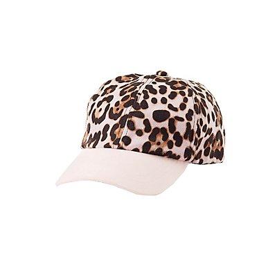 Leopard Print Faux Suede Hat