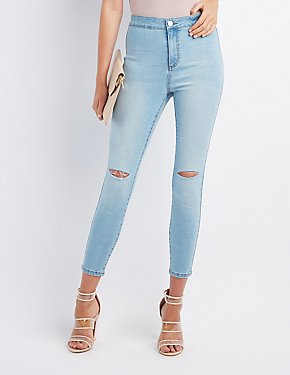Refuge Destroyed Super Hi-Rise Skinny Jeans