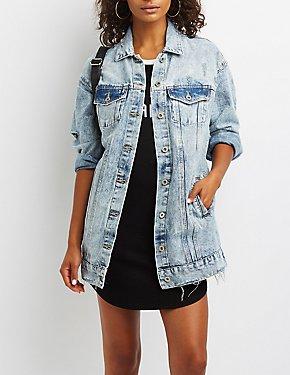 Oversize Distressed Denim Jacket