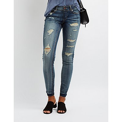 Dollhouse Destroyed Released Hem Skinny Jeans