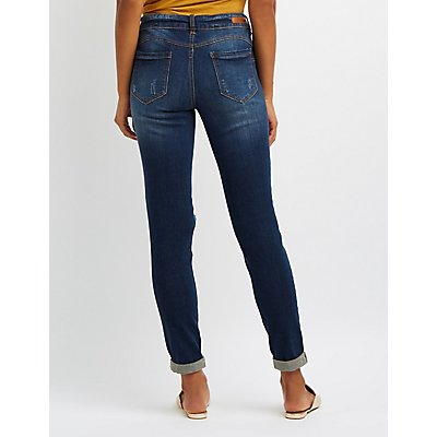 Dollhouse Destroyed Skinny Jeans