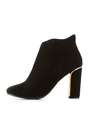 Gold-Trim Ankle Booties