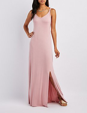 V-Neck Slit Maxi Dress