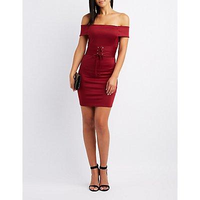 Corset Off-The-Shoulder Dress
