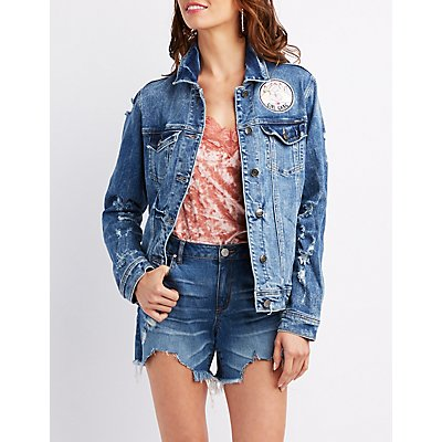 Cello Oversize Patch Denim Jacket