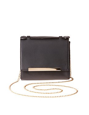 Gold-Tipped Mini Crossbody Bag