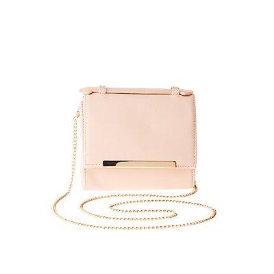 Gold-Tipped Mini Crossbody Bag