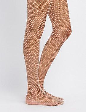 Shimmer Fishnet Tights