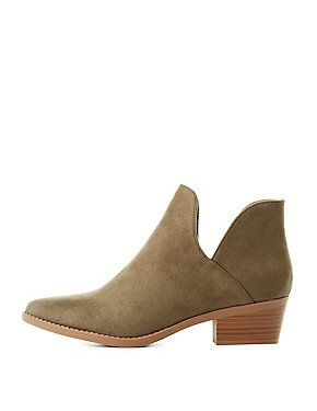 Cut-Out Pointed Toe Booties