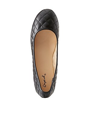 Qupid Quilted Ballet Flats