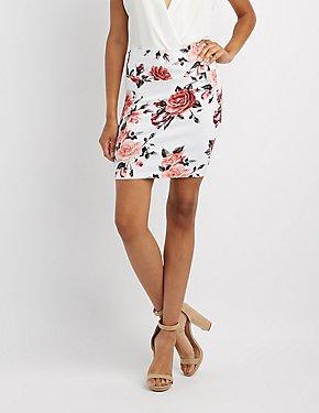 Floral Bodycon Mini Skirt