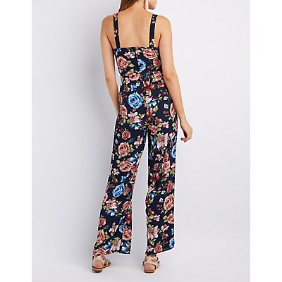 Floral Wide-Leg Jumpsuit