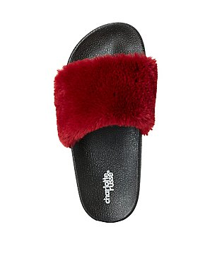 Fuax Fur Slide Sandals