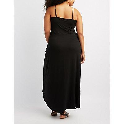 Plus Size Ruffle-Trim Wrap Maxi Dress