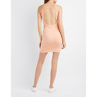 Open Back Bodycon Dress