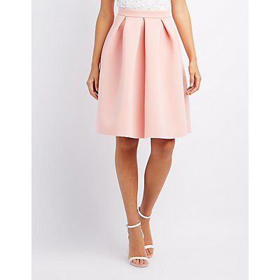 pleated scuba skirt russe