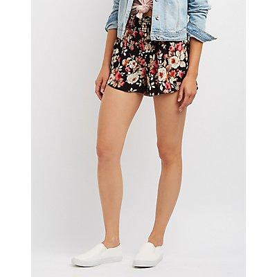 Floral Smocked Shorts