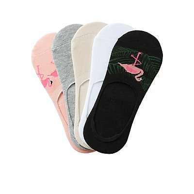 Assorted Flamingo Shoe Liners - 5 Pack