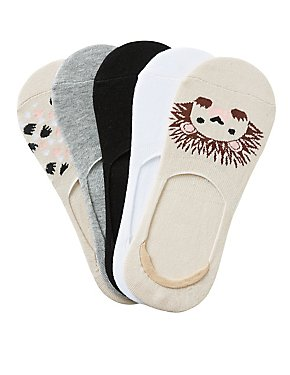Assorted Hedgehog Shoe Liners - 5 Pack