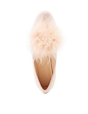 Faux Fur-Trim Loafers