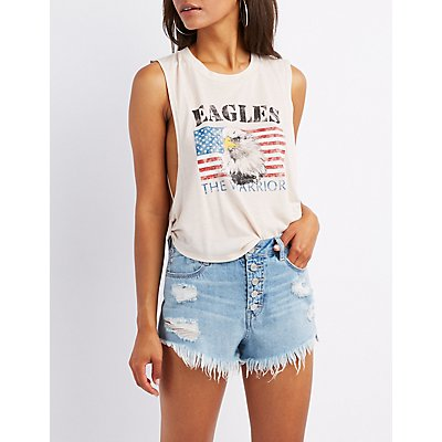 Eagles Graphic Muscle Tee
