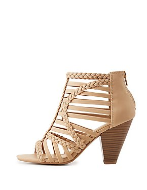 Braided Caged Strappy Sandals