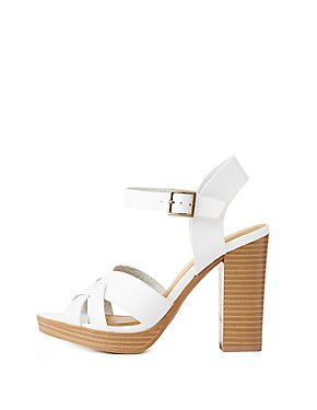 Two-Piece Platform Sandals