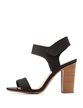 Braided Slingback Block Heel Sandals