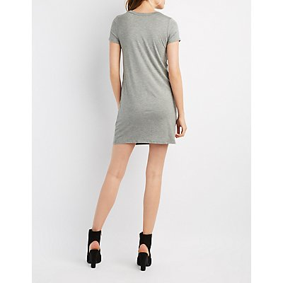 Mesh-Inset T-Shirt Dress