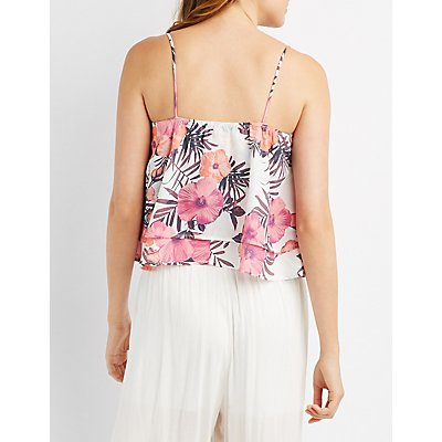 Tropical Tiered Tank Top