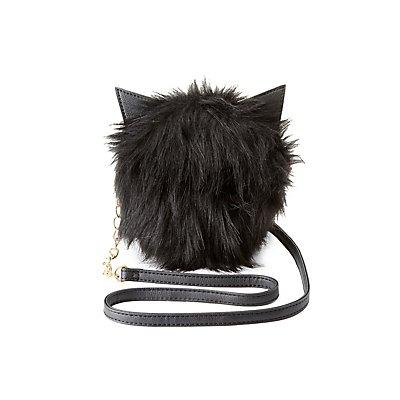 Faux Fur Cat Ear Crossbody Bag