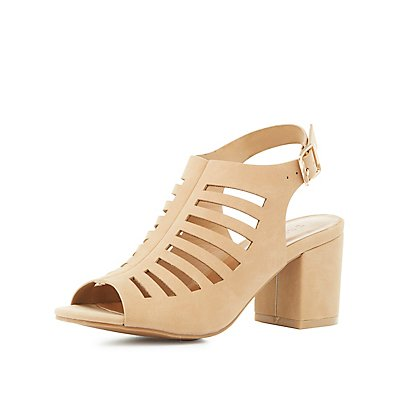 Bamboo Laser-Cut Slingback Sandals