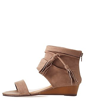 Bamboo Tassel-Tied Boot Sandals